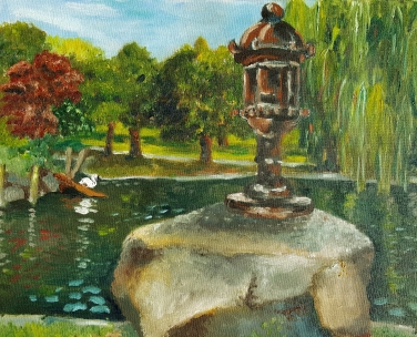 Public Garden, 2013. Oil on canvas. 16 by 20 inches. For sale, prints also available.