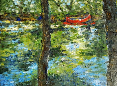 Mystic River Canoe, 2017. Oil on canvas. 18 by 24 inches. SOLD. Prints available.